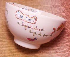 """Cuenco de desayuno para niños """"potito de verduras y pescado"""", by Kaotiña"""