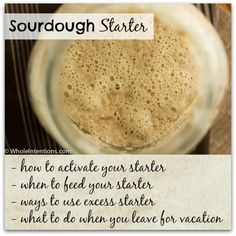 Bubbling #sourdough starter is fun and easy. Directions found at WholeIntentions.com.