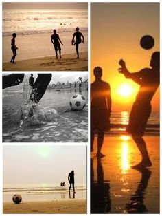 Soccer on the beach <3