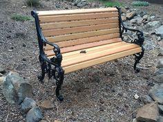 Refurbished park bench