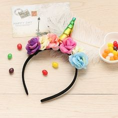 12 Plastic Unicorn Headbands For Girls Teens Toddlers Children Party Wholesale