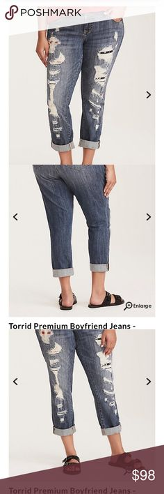 Boyfriend jeans with destruction Boyfriend jeans with destruction American flag accent size 18 never worn accidentally ordered the wrong size can't return because they are clearance :( torrid Jeans Boyfriend