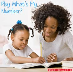 What's My Number? This is an easy and fun game that will help children build their number sense. #Math #ScholasticMath #parenting