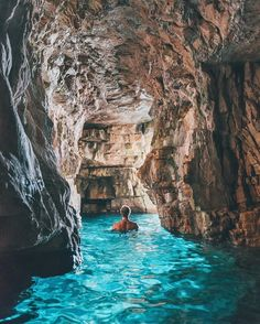 This is @doyoutravel swimming through the blue caves of Croatia! Check out his page for more as he permanently travels the world! #earthfocus