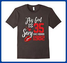 Mens Vintage Born in 1982 35th Birthday T-Shirt 35 Years Old Medium Asphalt - Birthday shirts (*Amazon Partner-Link)