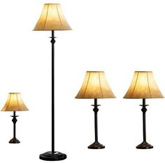Better Homes and Gardens 4-Piece Lamp Set Bronze Finish
