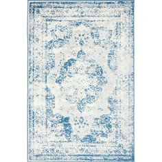 This Turkish Ford rug is made of polypropylene. This rug is easy-to-clean, stain resistant, and does not shed. Colors found in this rug include: Blue, Ivory, Beige, Light Blue. The primary color is Blue.