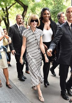 Fashion friends: Anna Wintour, 66, and Serena Williams, 34, were together again…