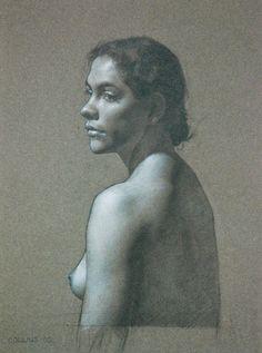 Jacob Collins. 1964. Carolina, 2005. Pencil on Paper Signed (l.l.)    haynesgalleries.com