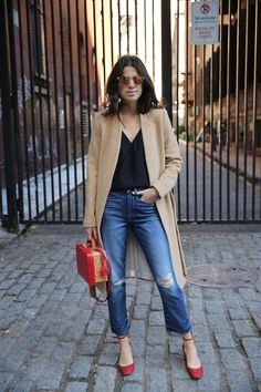 "Tucker says ""anyone can put red with camel and black""  but I still like it 