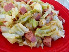 Hawaiian Spam And Cabbage Recipe - Genius Kitchen Chipotle Copycat Recipes, Spam Recipes, Diet Recipes, Cooking Recipes, Yummy Recipes, Fried Cabbage, Napa Cabbage, Food Network, Cream Cheese Snacks