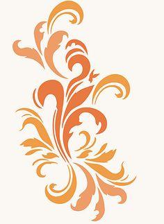 Damask Acanthus Swirls Stencil Damask Stencils