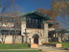 The Dana-Thomas House (1904) in Springfield, IL, is the best preserved and most complete of Frank Lloyd Wright's early Prairie Style houses. The home has over 250 art glass doors and windows.