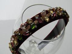 Beautiful burgundy red velvet headband/hairband by HairByAdele
