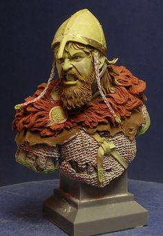 """This is the second figure for Andrea Miniatures series """"The Vikings"""" the figure is made in epoxie Milliput and the scale is 1/32 (54mm) I hope you like it. More SBS pics here:"""