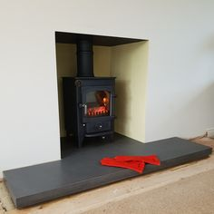 Polished designer concrete hearths and fire surrounds. Contact us for more information.