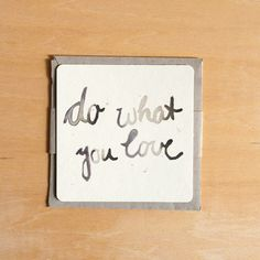 "Karte // Card ""do what you love"" by annegroen via DaWanda.com"