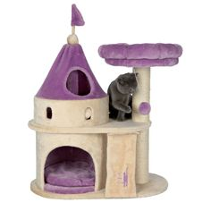 Shop for Trixie Pet Products My Kitty Darling Cat Scratching Post. Get free delivery On EVERYTHING* Overstock - Your Online Cat Supplies Store! Crazy Cat Lady, Crazy Cats, Cat Castle, Castle Bed, Tower Castle, Cat Activity, Cat Scratcher, Cat Condo, Pet Furniture