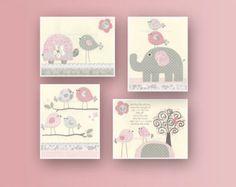 baby mädchen kinderzimmer kunst rosa und grauen kinderzimmer kunst, Hause deko
