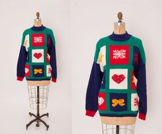 Vintage 1980s Ugly Christmas Sweater • Revival Vintage Boutique by RevivalVintageBoutiq on Etsy