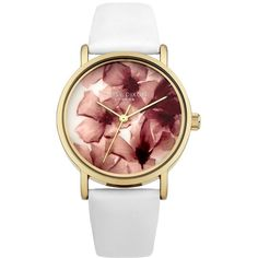 Daisy Dixon Strap Watch (3,020 PHP) ❤ liked on Polyvore featuring jewelry, watches, bracelets, accessories, gold tone jewelry, gold tone watches, floral jewelry, lipsy watches and dial watches