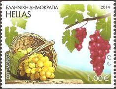 Sello: September (Grecia) (The twelve months in folk art) Mi:GR 2770C,Sn:GR 2629a