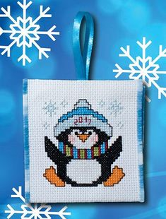 Christmas Penguin (E-Delivery) Christmas Penguin (E-Delivery) – Stoney Creek Online Store Cross Stitch Christmas Ornaments, Xmas Cross Stitch, Cross Stitch Cards, Christmas Cross, Counted Cross Stitch Patterns, Cross Stitch Designs, Cross Stitching, Cross Stitch Embroidery, Plastic Canvas Ornaments