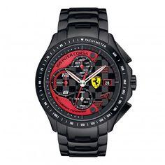 Ferrari Store: Orologio Race Day in acciaio nero. Acquista Orologio Race Day in acciaio nero nello Store online ufficiale in tutta sicurezza.