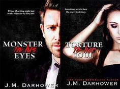 Românticos e Eróticos  Book: J.M. Darhower  - Monster in His Eyes #1 e #2