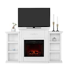 XtremepowerUS Electric Portable Fireplace w/ TV Stand, Bo...…