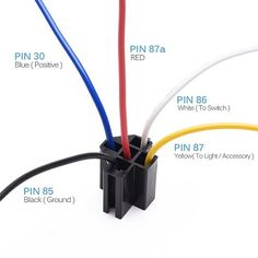 12V 30/40 amp 5 pin SPDT automotive relay with wires + harness socket 5 pcs:
