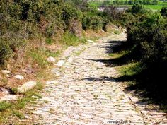 Roman road - France, South of the Loire.