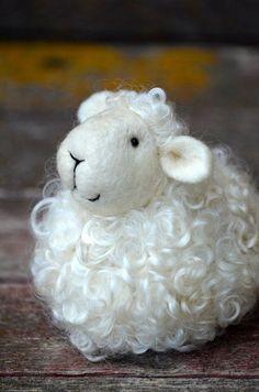 Felting Animals   Sheep - wool needle felted lamb - needle felted animals