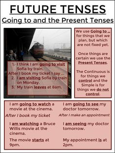 FUTURE TENSES - Going to and the Present Tenses