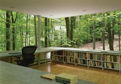 "** classic interior and wood outlook  Scholar's Library | GLUCK+ In the words of Liz Lemon ""I want to go there."""