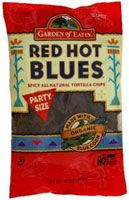 Garden of Eatin' Organic Blue Corn Redhot Tortilla Chips... spicy and hot, but so good!