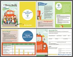 Junior League of Seattle Touch-a-Truck sponsor packet designed by Jennifer Pebbles - paperandink.typepad.com.
