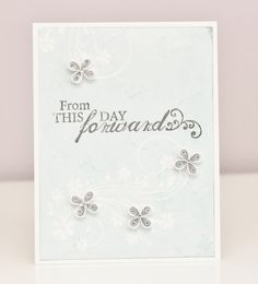 Quilled Wedding Card for Bride and Groom