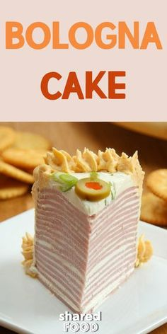 This simple Bologna Cake is layers of America's favorite lunch meat Bologna and cream cheese topped with a cheddar cheese frosting that will blow your mind! Serve this at your next party and watch how this conversation started gets devoured!
