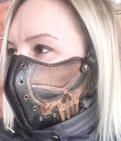 Motorcycle Mask is protects your face from wind and flies while being extremely comfortable. With its stylish design, its very suitable for motorbike riding Biker Mask, Motorcycle Mask, Motorcycle Gifts, Motorcycle Leather, Women Motorcycle, Leather Mask, Cow Leather, Cowhide Leather, Motorcycle Accessories
