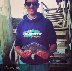Cam lands a 35cm Bream and is all smiles. Thanks for the share!     #fraserisland #fraserislandfishing #homeoffishing #kingfisherbay #eurongbeach #fraserislandbarges #hooked