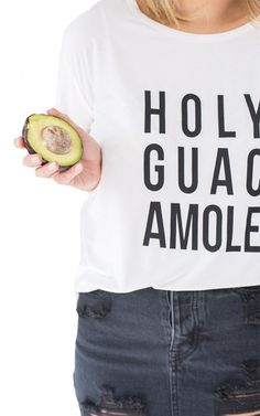 Holy Guacamole Graphic Crewneck Tee - PRIVILEGE