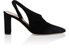 THE ROW | Camil Suede Slingback Pumps #Shoes #Heels #THE ROW