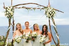 This relaxed Whale Beach wedding was a perfect mix of romance, fun and emotional moments. A rainbow appeared over the couple while celebrating on the beach. Bridesmaids, Bridesmaid Dresses, Wedding Dresses, Whale, Couples, Celebrities, Beach, Photography, Fashion