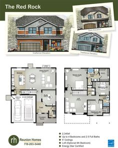 The Red Rock By Reunion Homes New In Colorado Springs Pinterest