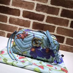 Gucci Unskilled Worker GG Marmont Matelassé Small Camera Shoulder Bag 447632 2018 Gucci Handbags Sale, Small Camera, Gg Marmont, Bucket Bag, Personal Style, Chanel, Louis Vuitton, Shoulder Bag, Womens Fashion