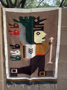 A personal favorite from my Etsy shop https://www.etsy.com/listing/240707285/mexican-rug-blanket-wall-hanging-aztec