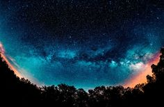 A panorama of the Milky Way taken from Fall Creek Falls State Park during the Eta Aquarid meteor shower on May 4, 2014. (Matt Harbison)