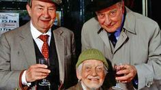 "Last of the Summer Wine (BBC) ""Clegg""(Peter Sallis), ""Compo"" ( Bill Owen) and ""Truly"" ( Frank Thornton )"