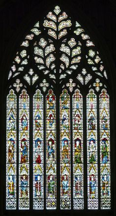 The West Window, Heart of Yorkshire, of York Minster.
